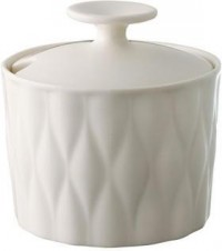Loveramics - Weave Sugar Pot - White from Amara Living | Sugar and cream - furnish.co.uk