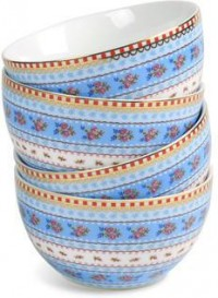 Pip Studio - Set of 4 Bowls - Blue - 9.5cm from Amara Living | Vases and bowls - furnish.co.uk