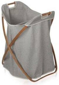 Moeve - Laundry Basket - Single - Bamboo/Canvas from Amara Living | Laundry baskets - furnish.co.uk