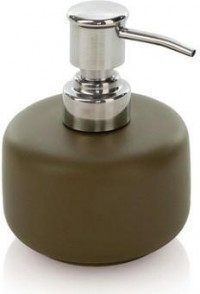 Moeve - Soap Dispenser Brown - Ceramic/Stainless Steel from Amara Living | Soap dispensers - furnish.co.uk