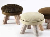 LEATHER POUF / FOOTSTOOL MATTAK COLLECTION BY BLEU NATURE