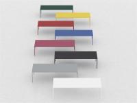 RECTANGULAR STEEL TABLE ROBIN BY MDF ITALIA | DESIGN BRUNO FATTORINI