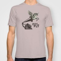 Music makes me fly T-shirt by Belle13 | Society6