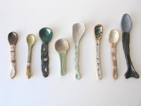Shino Takeda spoon - green spots| Mr Kitly