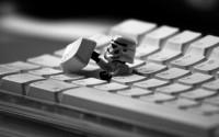Star Wars stormtroopers Apple Inc. keyboards grayscale monochrome Legos - Wallpaper (#278933) / Wallbase.cc