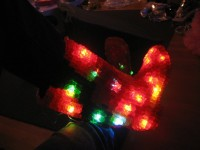 LED Gummy Bear Boots I made for Burning Man