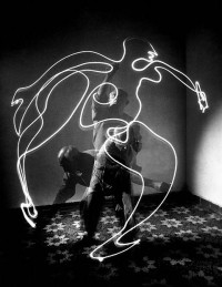 Photos of Pablo Picasso creating remarkable light drawings — Lost At E Minor: For creative people
