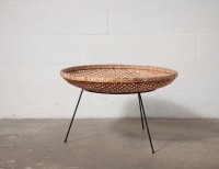 RETRO WICKER + WIRE COLLECT-ALL OR MAGAZINE BASKET: Amsterdam Modern ($100-200) - Svpply