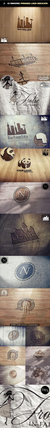 Graphics - 10 Amazing Pressed Logo Mock-Ups | GraphicRiver