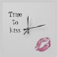 Time to Kiss Clock from Zazzle.com