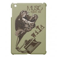 Music makes me wild case for the iPad mini from Zazzle.com