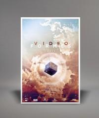 Videoformes festival poster 2013 - Fred Dauzat graphic design