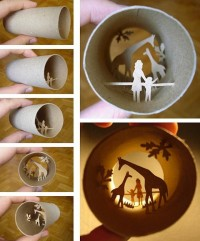 Miniature Lightbox – Toilet Paper Roll Art (12 Examples) - 9 Wows