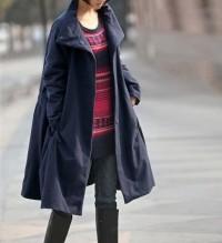 Winter warm waist drawstring loose padded Overcoat by MaLieb