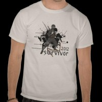 2012 Survivor - ninja fighter T Shirts from Zazzle.com