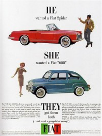 1960s Advertising - Magazine Ad - Fiat Spider & 600 (USA) | Flickr - Photo Sharing!