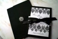 custom wedding invitation design black and white - Google Search