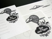 "Wedding invitation set - "" Hot air balloons"" 