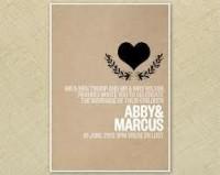 custom wedding invitation design black and white - Google Search