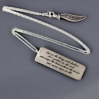 Sterling Silver Emily Dickinson Necklace by lisahopkins on Etsy