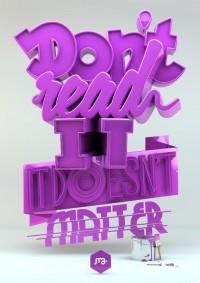 C?m h?ng t? 20 tác ph?m 3D Typography ??p m?t | Typography | Y2Graphic