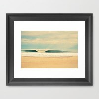 Winter Wave Framed Art Print by RDelean | Society6