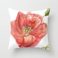 Poppy Throw Pillow by Catherine Holcombe | Society6