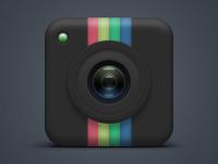 Instagram Camera Dark Icon by Nick