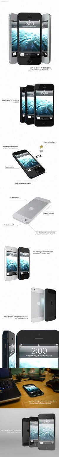 3D Models - iPhone 5 | 3DOcean