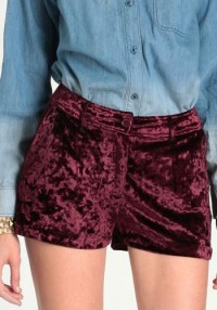 Witching Hour Velvet Shorts - $38.00 : ThreadSence, Women's Indie & Bohemian Clothing, Dresses, & Accessories
