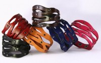leather bracelet leather cuff leather cuff bracelet by zzbuffalo