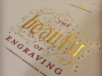 The Beauty of Engraving, BEING ENGRAVED by Christine McMahon