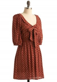 Burnt Sienna Sweetheart Dress | Mod Retro Vintage Printed Dresses | ModCloth.com