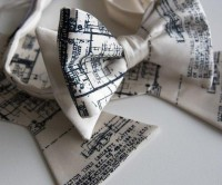 Detroit Blueprint Bow Tie | Fancy Crave