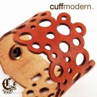 encircledlaser cut leather bracelet cuff by ColinFrancisDesign