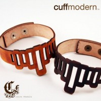 d'echolaser cut leather choker by ColinFrancisDesign on Etsy