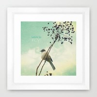 Learn to Fly! Framed Art Print by RDelean | Society6