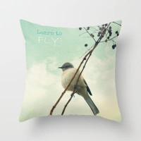 Learn to Fly! Throw Pillow by RDelean | Society6