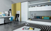 mustard-black-white-Contemporary-Teenagers-Room.jpg (911×561)