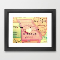 Missouri Framed Art Print by RDelean | Society6