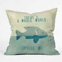 DENY Designs Home Accessories | Belle13 There Is A Whole World Inside Me Throw Pillow