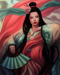 Seductive Geisha Digital Art Inspiration | nenuno creative