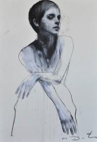 Emma 2, pastel & collage, 32ins x 46ins. | Mark Demsteader | mark demsteader