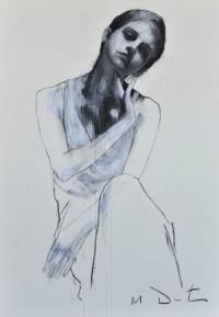 Emma 6, pastel & collage, 32ins x 46ins. | Mark Demsteader | mark demsteader