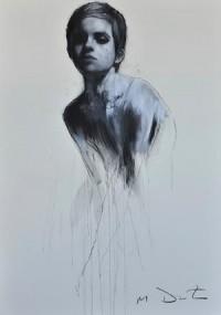 Emma 10, pastel & collage, 32ins x 46ins. | Mark Demsteader | mark demsteader