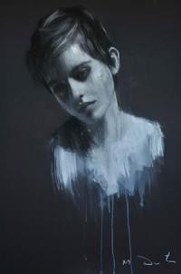 Emma 11, pastel & collage, 32ins x 46ins. | Mark Demsteader | mark demsteader