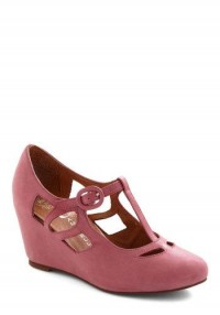 Jeffrey Campbell Pane and Simple Wedge in Rose | Mod Retro Vintage Heels | ModCloth.com