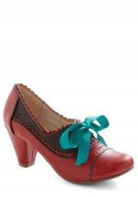 Notch Your Step Heel in Crimson | Mod Retro Vintage Heels | ModCloth.com
