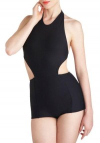 Eclipsed by Intrigue Monokini | Mod Retro Vintage Bathing Suits | ModCloth.com