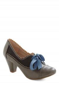 Notch Your Step Heel in Grey | Mod Retro Vintage Heels | ModCloth.com